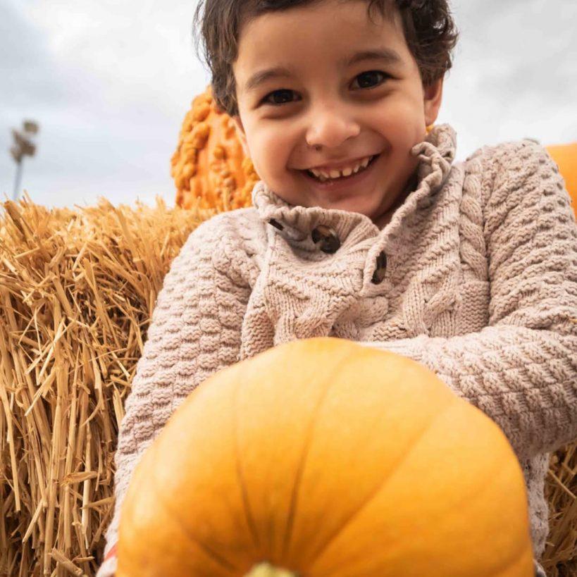 pumpkin patch boy
